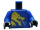 Part No: 973pb0836c01  Name: Torso Ninjago Gold Dragon Front and Gold Lion and 'JAY' Back Pattern/ Blue Arms / Black Hands
