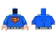 Part No: 973pb0981c01  Name: Torso Shirt with Muscles, Belt and Red and Yellow Superman 'S' Logo Pattern / Blue Arms / Light Flesh Hands