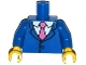 Part No: 973pb1994c01  Name: Torso Simpsons Jacket, White Shirt and Dark Pink Tie Pattern / Blue Arms / Yellow Hands
