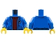 Part No: 973pb2060c01  Name: Torso Jacket with Pockets over Dark Red Sweater, Anchor Logo Pattern / Blue Arms / Yellow Hands
