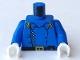 Part No: 973px43c01  Name: Torso Western Cavalry Uniform, 5 Buttons, Belt Pouch Pattern / Blue Arms / White Hands