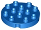 Part No: 98222  Name: Duplo, Plate Round 4 x 4 with 1 Hole with Locking Ridges