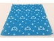 Part No: blankie03pb04  Name: Duplo Cloth Blanket 5 x 6 with White Hearts and Stars Pattern