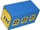 Part No: x655c02  Name: Fabuland Garage Block with Yellow Windows and Yellow Doors