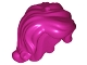 Part No: 15677  Name: Minifigure, Hair Female Long Wavy with Right Side Part, Short Sides, Holes on Top and Side