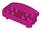 Part No: 6476  Name: Duplo Furniture Couch / Sofa with Rounded Back and Eight Studs