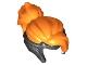 Part No: 35685pb01  Name: Minifigure, Hair Combo, Tiara with Orange Bangs, Top and Ponytail Pattern