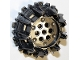 Part No: 64712  Name: Wheel Hard Plastic with Small Cleats and Flanges