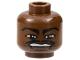 Part No: 3626bpb0137  Name: Minifigure, Head NBA Vince Carter Pattern - Blocked Open Stud