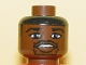 Part No: 3626bpb0151  Name: Minifigure, Head NBA Jalen Rose Pattern - Blocked Open Stud