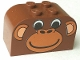 Part No: 4744px1  Name: Brick, Modified 2 x 4 x 2 Double Curved Top with Monkey Face Pattern
