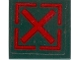 Part No: 3068bpb0314  Name: Tile 2 x 2 with Red Square and 'X' Pattern (Sticker) - Set 7626