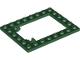 Part No: 92107  Name: Plate, Modified 6 x 8 Trap Door Frame Horizontal (Long Pin Holders)