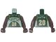 Part No: 973bpb139c01  Name: Torso NBA Seattle SuperSonics #20 Pattern / Brown NBA Arms