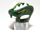 Part No: 98146pb02  Name: Minifigure, Head Modified Snake with Horns and Lime Scales Pattern (Acidicus)