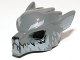Part No: 11233pb02  Name: Minifigure, Headgear Mask Wolf with Fangs, Light Bluish Gray Fur and Ears Pattern