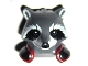 Part No: 17013pb02  Name: Minifigure, Head Modified Raccoon with Dark Red and Black Shoulder Pads Pattern (Rocket)