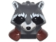 Part No: 17013pb03  Name: Minifigure, Head Modified Raccoon with Reddish Brown Shoulder Pads and Smile Pattern (Rocket)