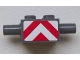 Part No: 30000pb02  Name: Brick, Modified 2 x 2 with Pins and Axle Hole with Red and White Danger Stripes Pattern (Sticker) - Set 7945