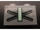 Part No: 3004pb097  Name: Brick 1 x 2 with X and Sand Green Bar Pattern on Both Sides (Stickers) - Set 7625