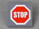 Part No: 30258pb010  Name: Road Sign Clip-on 2 x 2 Square with Red Stop Sign Pattern (Sticker) - Set 7781