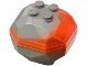 Part No: 30294c01pb01  Name: Rock Boulder (Top and Bottom) with Marbled Trans-Neon Orange Pattern
