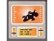 Part No: 3068bpb0395  Name: Tile 2 x 2 with Orange Screen Pattern (Sticker) - Set 8970