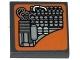 Part No: 3068bpb0904  Name: Tile 2 x 2 with SW Landspeeder Circuitry on Flesh Background Pattern (Sticker) - Set 75052