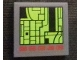 Part No: 3068bpb1189  Name: Tile 2 x 2 with Computer Screen with City Map and Red Buttons Pattern (Sticker) - Set 76023