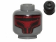 Part No: 3626cpb1117  Name: Minifig, Head Alien with Dark Red Sith Mask Pattern (SW Darth Revan) - Stud Recessed