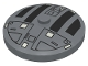 Part No: 3960px4  Name: Dish 4 x 4 Inverted (Radar) with Solid Stud with Star Wars TIE Hatch Black and White Pattern