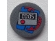 Part No: 4150pb108  Name: Tile, Round 2 x 2 with Time Bomb with '00:05' Pattern (Sticker) - Set 8639