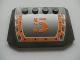 Part No: 52031pb016  Name: Wedge 4 x 6 x 2/3 Triple Curved with Orange '5' Pattern (Sticker) - Set 8137