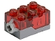 Part No: 54930c01  Name: Electric, Light Brick 2 x 3 x 1 1/3 with Trans-Red Top and Red LED Light