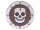 Part No: 59231pb01  Name: Minifigure, Shield Round Flat with Skull Pattern