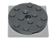 Part No: 60474c02  Name: Turntable 4 x 4 x 2/3 Top with Light Bluish Gray Square Base, Free-Spinning, Complete Assembly (60474 / 61485)