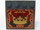 Part No: 6179pb015  Name: Tile, Modified 4 x 4 with Studs on Edge with Gold Crown and Border Pattern (Sticker) - Set 10193