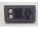 Part No: 85984pb033  Name: Slope 30 1 x 2 x 2/3 with Gauges, Buttons, Blue Bar and Radio on Clear Background Pattern (Sticker) - Set 60023