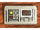 Part No: 85984pb215  Name: Slope 30 1 x 2 x 2/3 with SW Control Panel with Screen, Red, White and Yellow Square Buttons Pattern (Sticker) - Set 75158