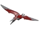 Part No: Ptera04  Name: Dinosaur, Pteranodon with Dark Red Back and Large Curved Nostrils