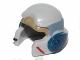 Part No: 11538pb01  Name: Minifigure, Headgear Helmet SW Rebel with Dark Tan, Light Bluish Gray and Dark Blue A-wing Pilot Pattern