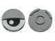 Part No: 14769pb027  Name: Tile, Round 2 x 2 with Bottom Stud Holder with Eye and Eyelid Pattern
