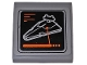 Part No: 15068pb131  Name: Slope, Curved 2 x 2 No Studs with SW Monitor Showing Imperial Star Destroyer Pattern (Sticker) - Set 75098