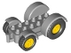 Part No: 15313c01  Name: Duplo Car Base 2 x 6 Tractor with Yellow Front and Rear Wheels and Mudguards