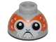 Part No: 20952pb02  Name: Brick, Round 1.5 x 1.5 Dome Top with Porg Head Pattern