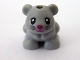 Part No: 24183pb03  Name: Hamster / Mouse, Friends / Elves with Black Eyes and Whiskers and Magenta Nose and Mouth Pattern