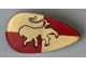 Part No: 2586ph1  Name: Minifigure, Shield Ovoid with HP Gryffindor Pattern (Golden Lion)