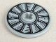 Part No: 2958pb067  Name: Technic, Disk 3 x 3 with Silver and Black Fan Pattern (Sticker) - Set 75901