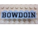 Part No: 3009pb192  Name: Brick 1 x 6 with Black 'BOWDOIN' Pattern