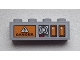 Part No: 3010pb168  Name: Brick 1 x 4 with 'DANGER', Knobs and Signal Strength Display Pattern (Sticker) - Set 9486
